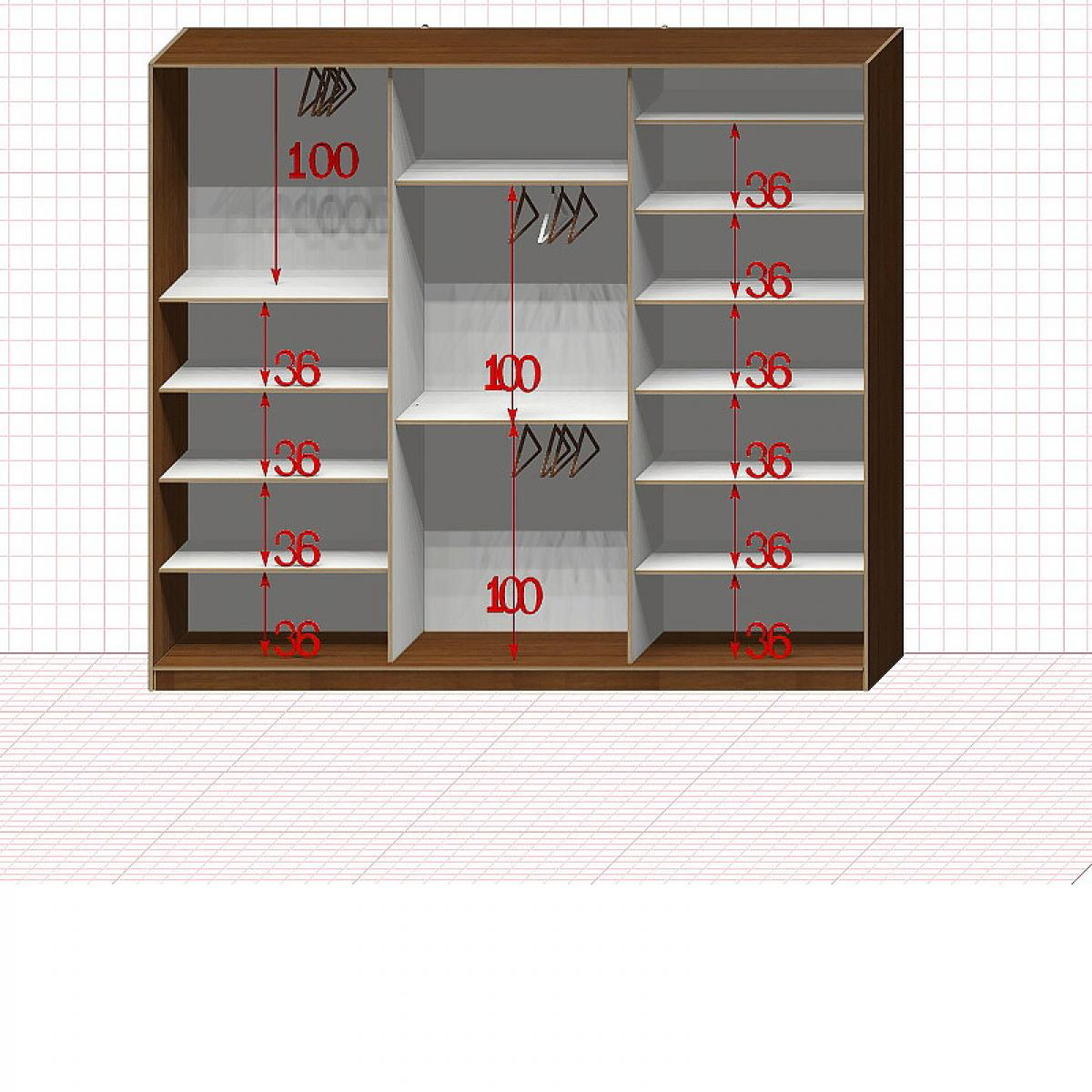 Шкаф гардеробный №42-9-00