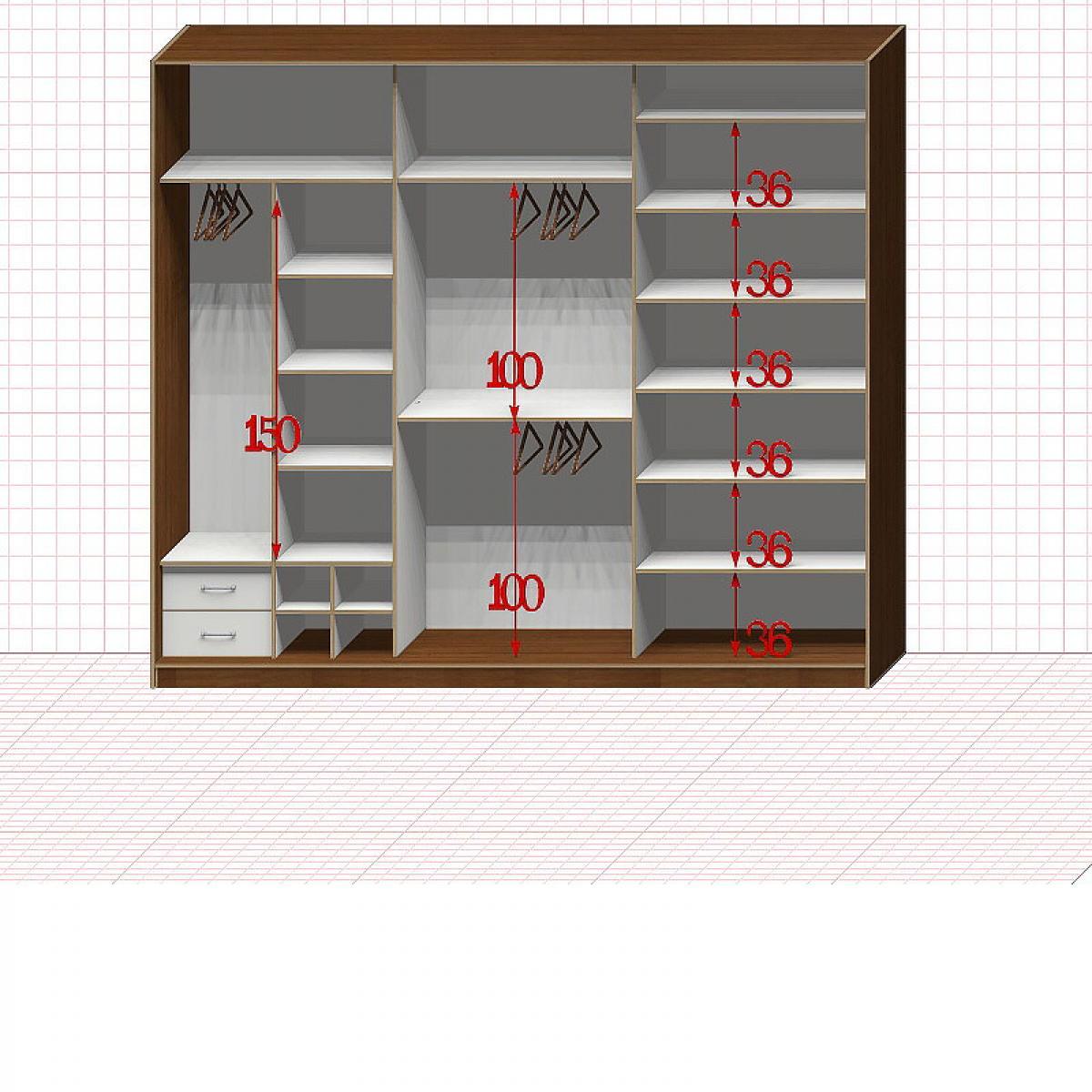 Шкаф гардеробный №46-8-00