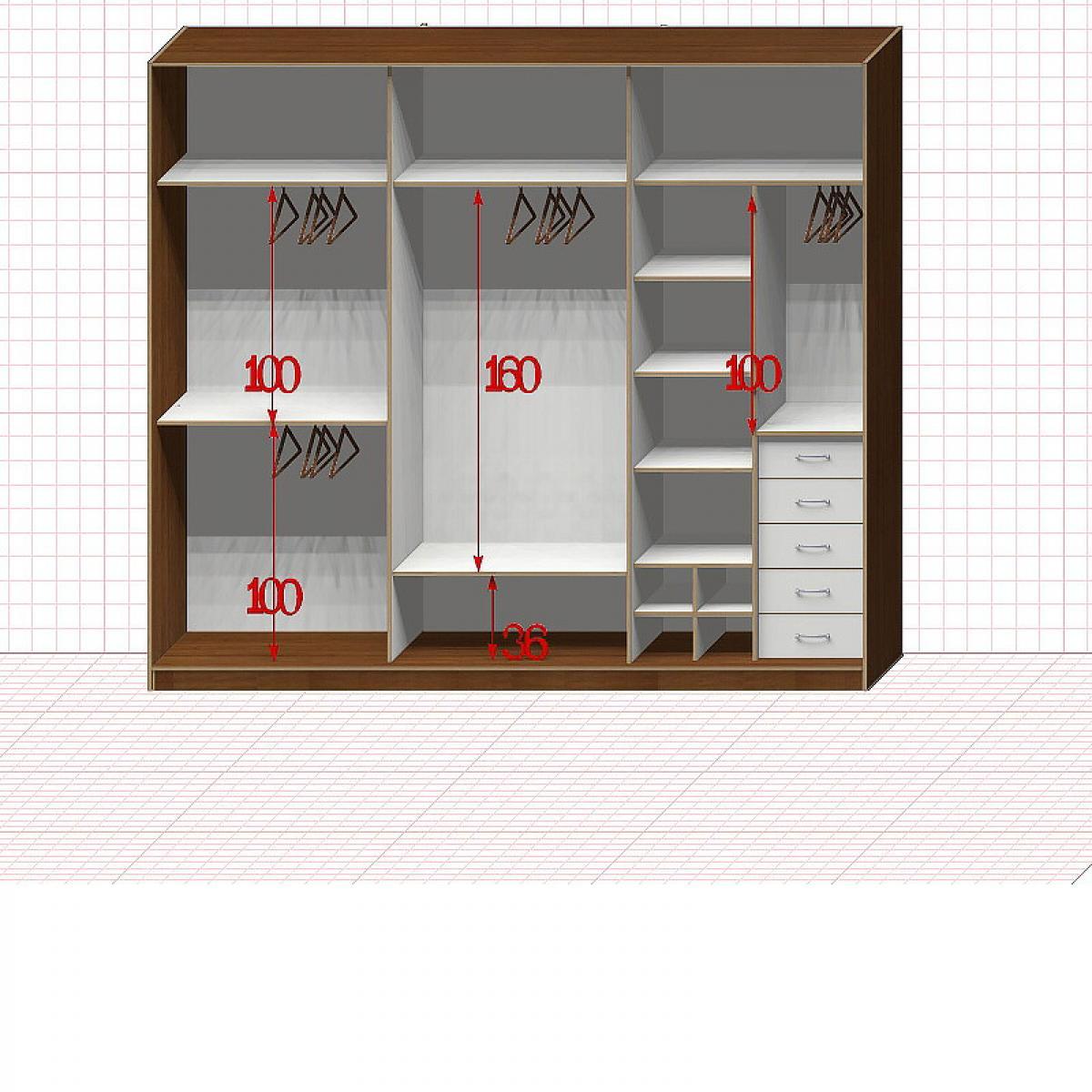 Шкаф гардеробный №49-1-00