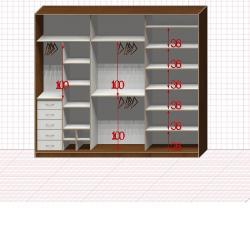 Шкаф гардеробный №50-7-00