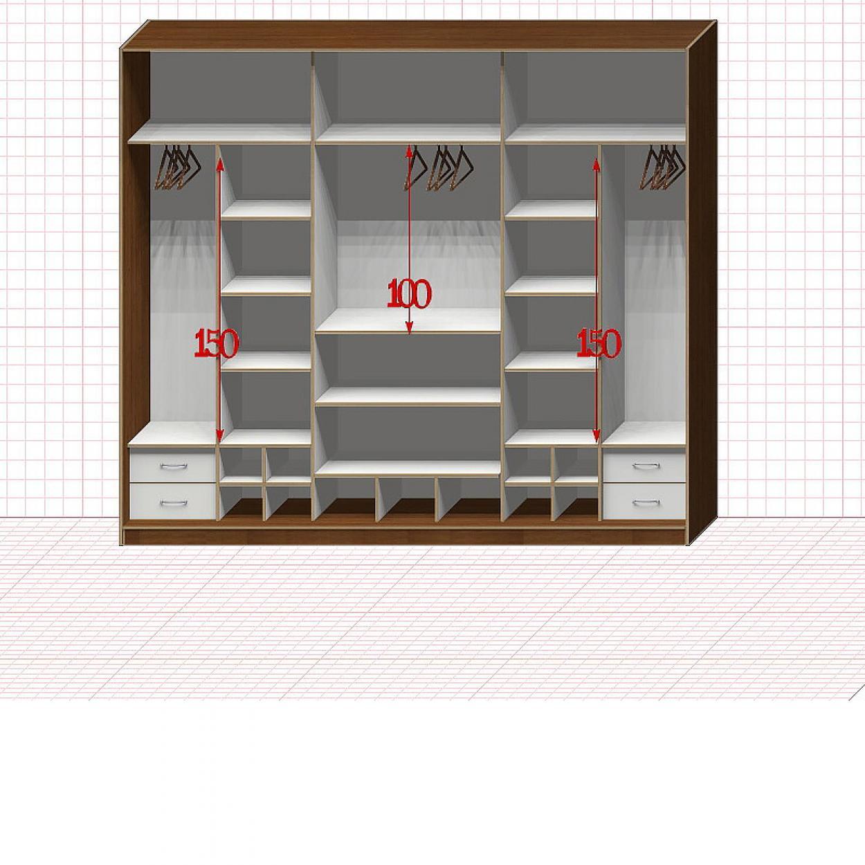 Шкаф гардеробный №50-9-00