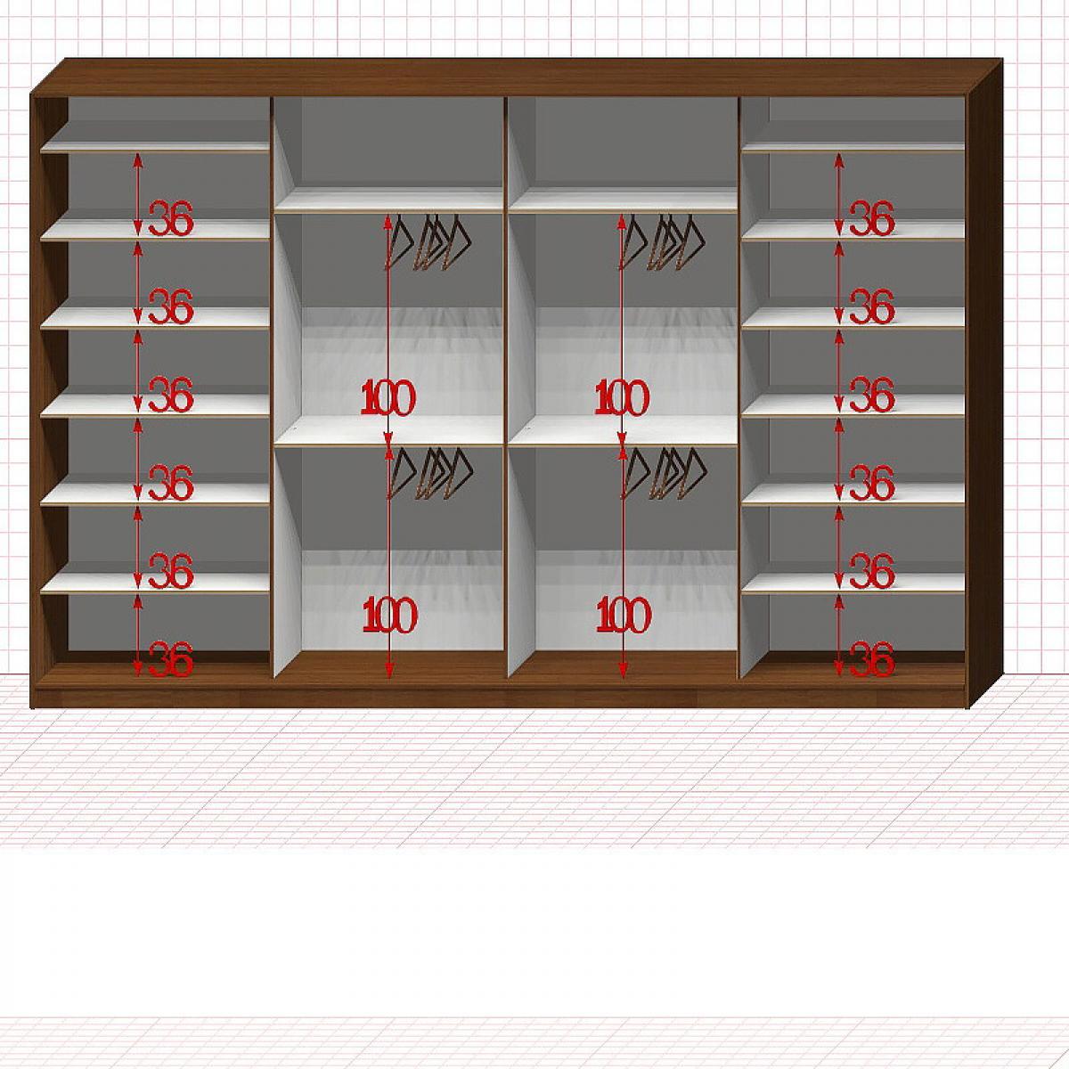 Шкаф гардеробный №50-1-01