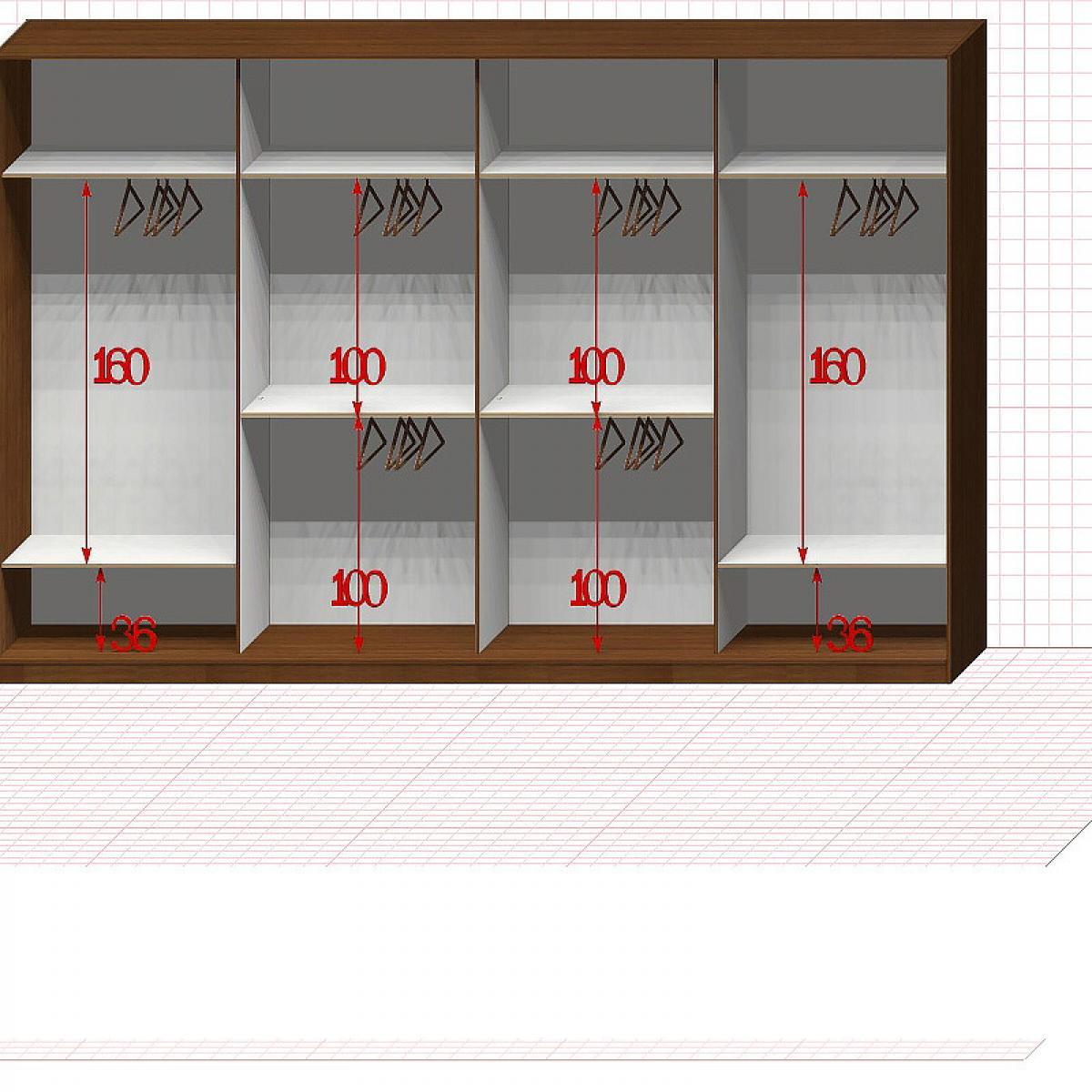 Шкаф гардеробный №51-7-00