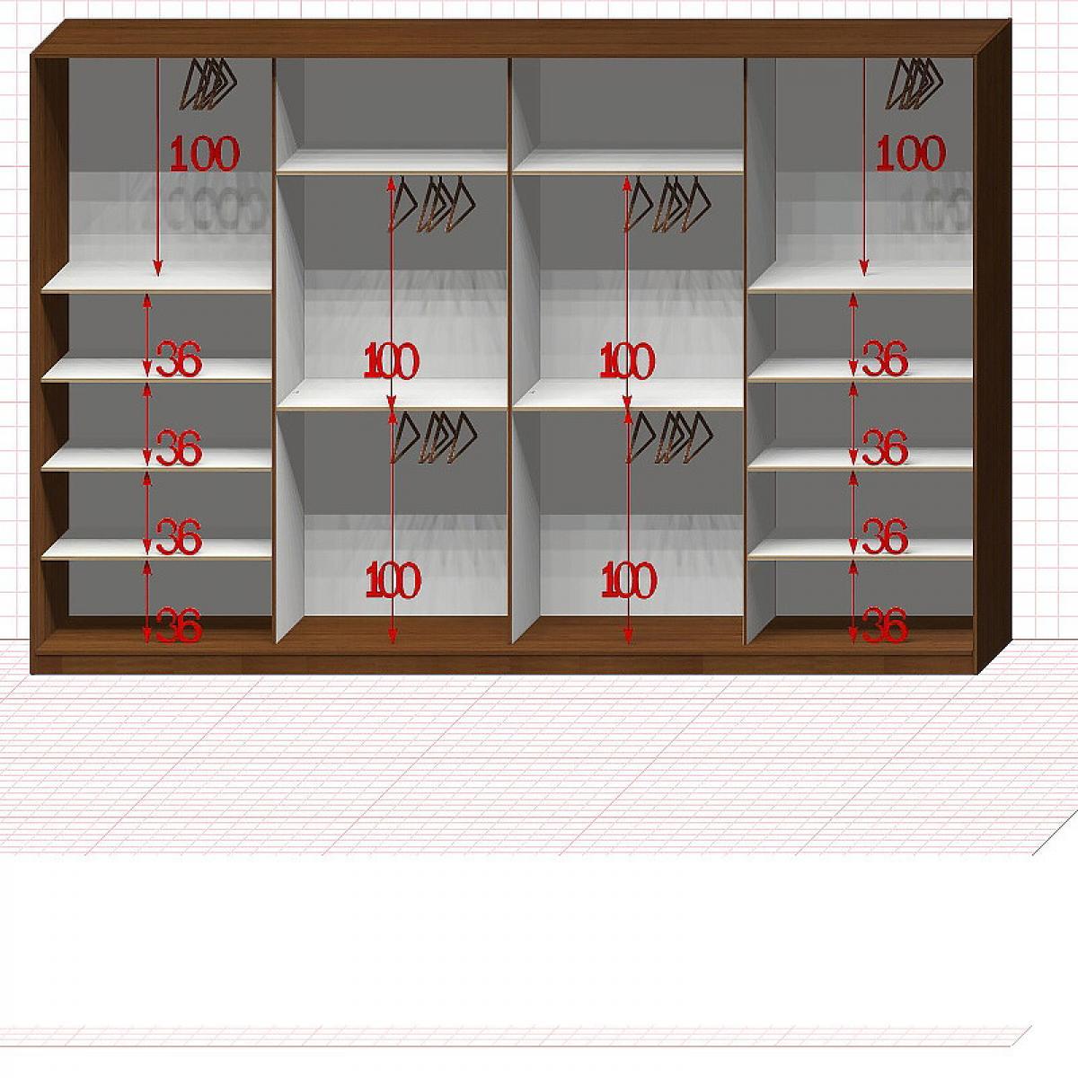 Шкаф гардеробный №54-9-50