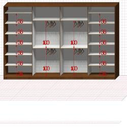 Шкаф гардеробный №56-7-40