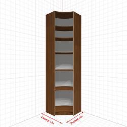 Угловой шкаф гардеробный №4