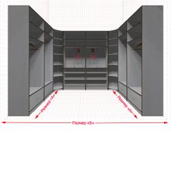 Угловая классическая гардеробная №U2x2-a
