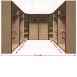 Угловая классическая гардеробная №U2x2-aa