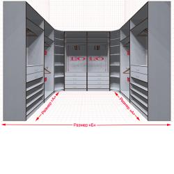 Угловая классическая гардеробная №U2x2-c