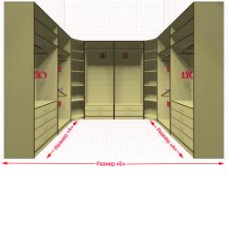 Угловая классическая гардеробная №U2x2-e