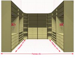 Угловая классическая гардеробная №U2x2-h