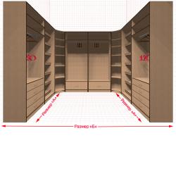 Угловая классическая гардеробная №U2x2-k