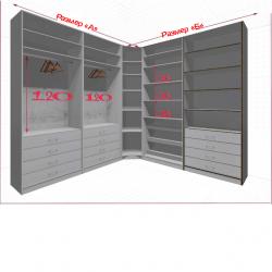 Угловая классическая гардеробная №L2x2b-a