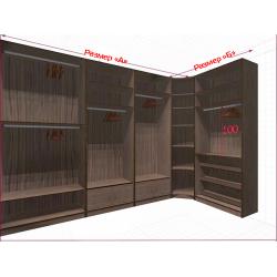Угловая классическая гардеробная №L3x1-a