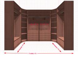 Угловая классическая гардеробная №U1x2-aa