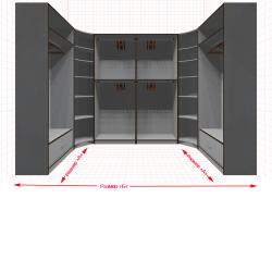 Угловая классическая гардеробная №U1x2-b