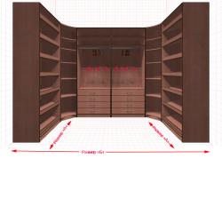 Угловая классическая гардеробная №U1x2-с