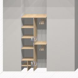 Шкаф гардеробный встроенный №11