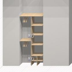 Шкаф гардеробный встроенный №12