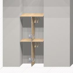 Шкаф гардеробный встроенный №13
