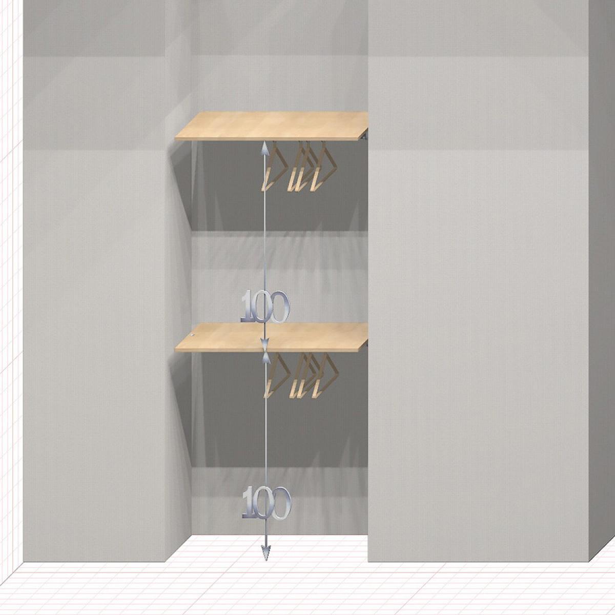 Шкаф гардеробный встроенный №14