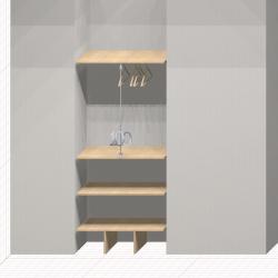 Шкаф гардеробный встроенный №15
