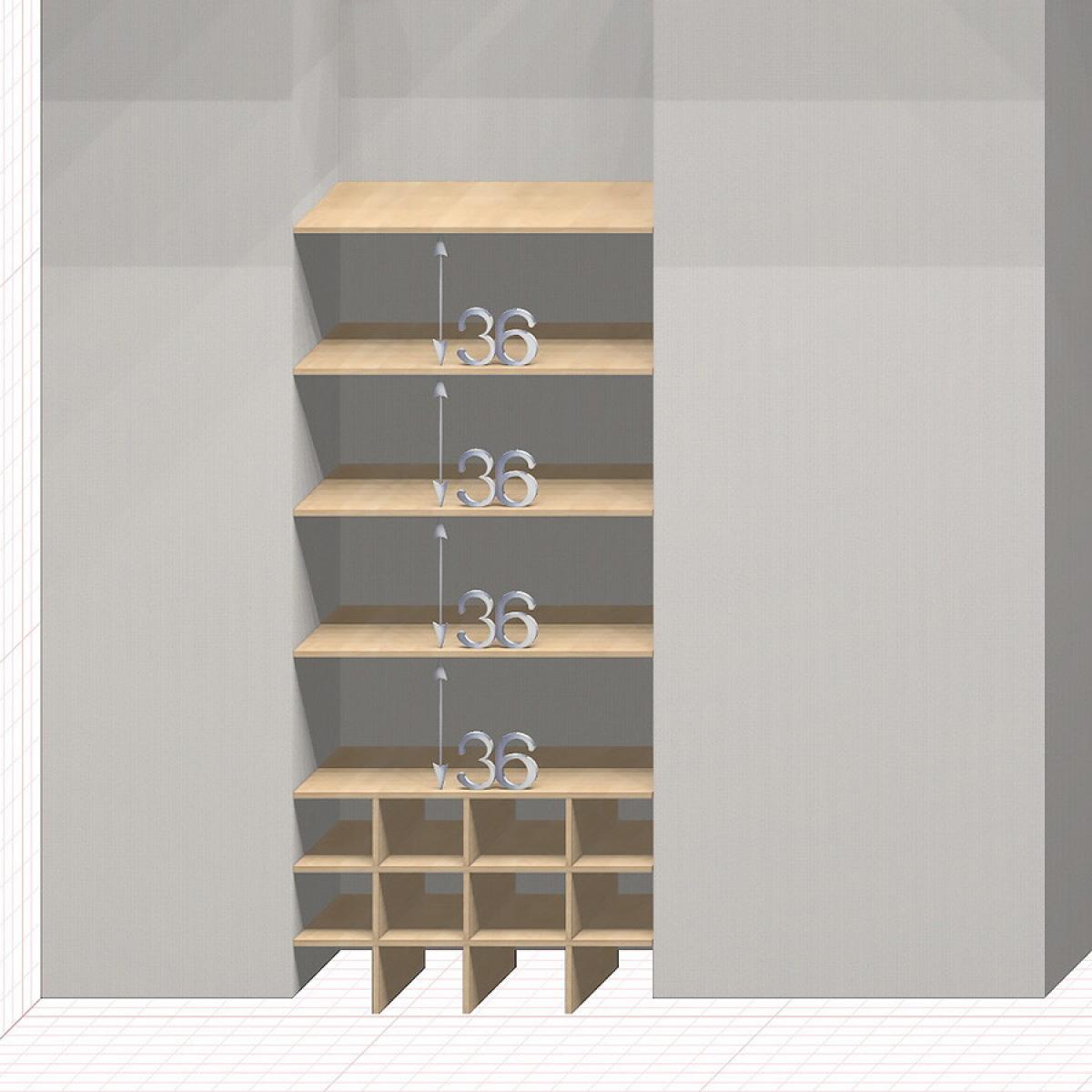 Шкаф гардеробный встроенный №16