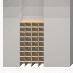 Шкаф гардеробный встроенный №17