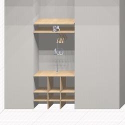 Шкаф гардеробный встроенный №18