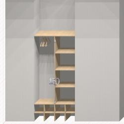Шкаф гардеробный встроенный №2