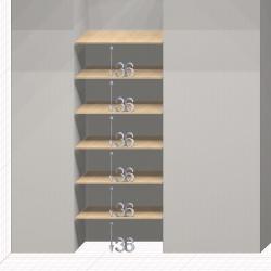 Шкаф гардеробный встроенный №20