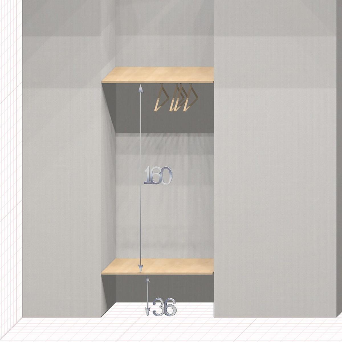 Шкаф гардеробный встроенный №3