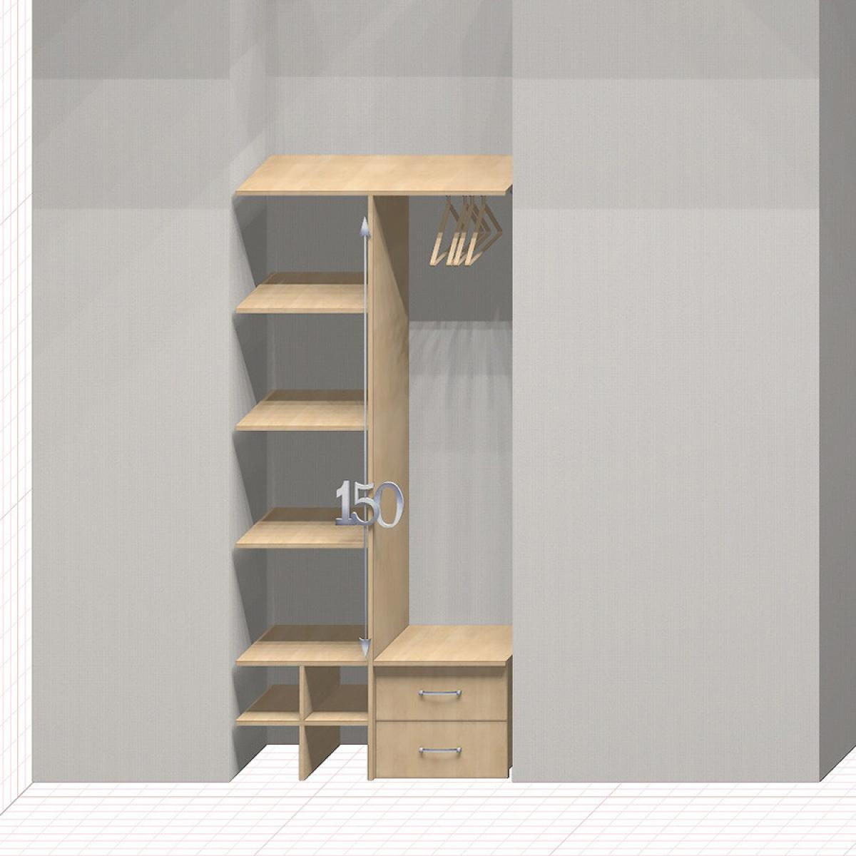Шкаф гардеробный встроенный №4