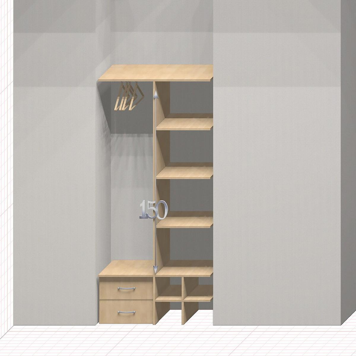 Шкаф гардеробный встроенный №5