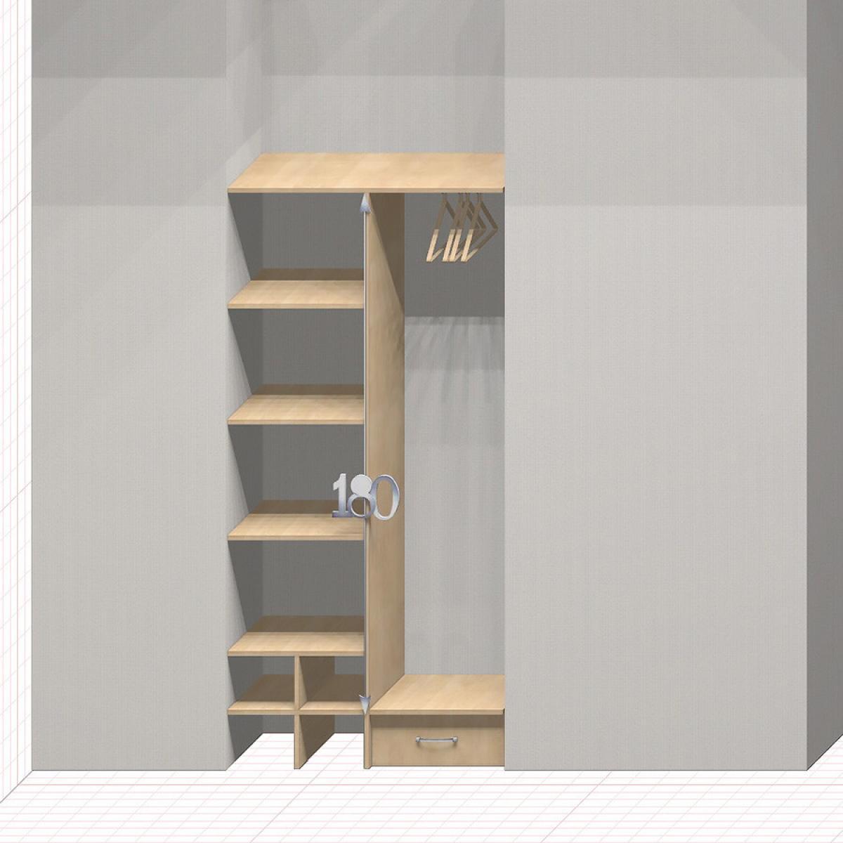 Шкаф гардеробный встроенный №6