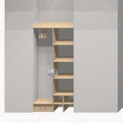 Шкаф гардеробный встроенный №7