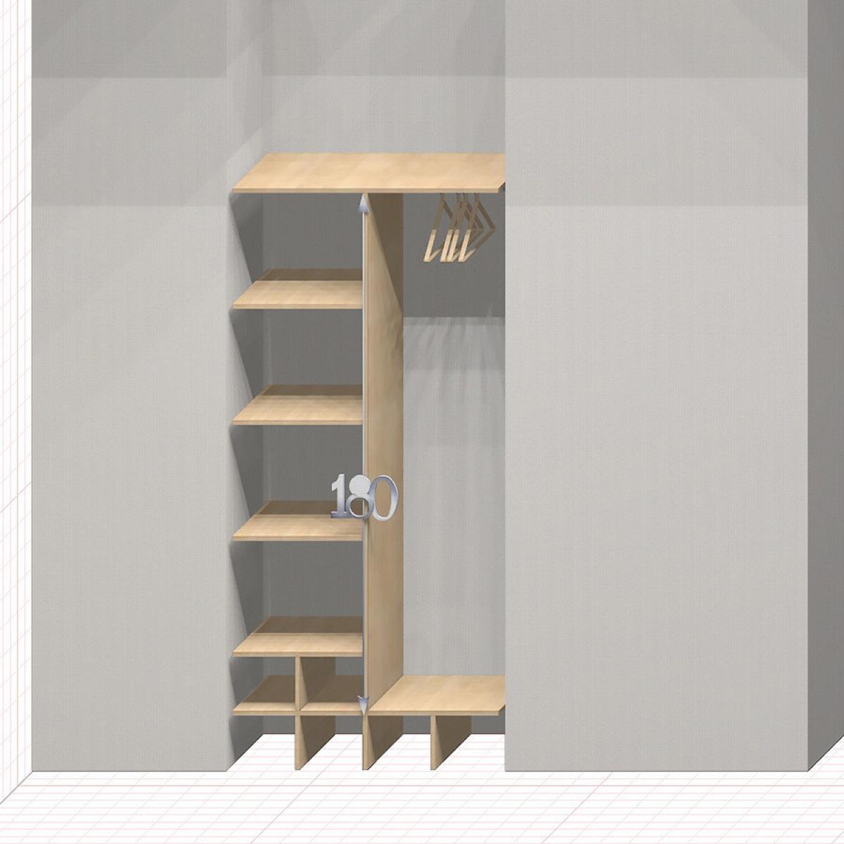 Шкаф гардеробный встроенный №8