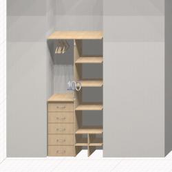 Шкаф гардеробный встроенный №10