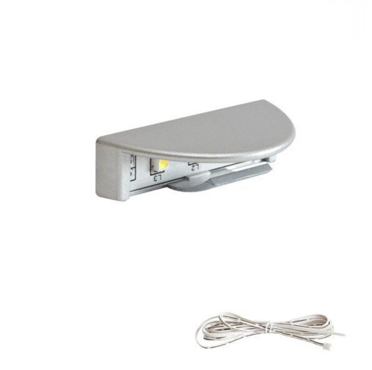 Светильник-клипса 210 светодиодный L46мм пластик сер. металлик 6000K
