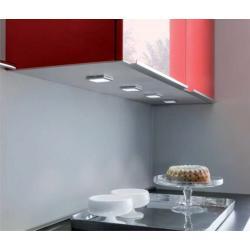 Светильник светодиодный Matrix 2W 24V 5000*K (холодный свет) 25LED цвет серый металлик