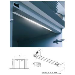 Светильник люминисцентный Miami-S для модуля 600мм 8W 230V для распашных дверок цвет алюминий