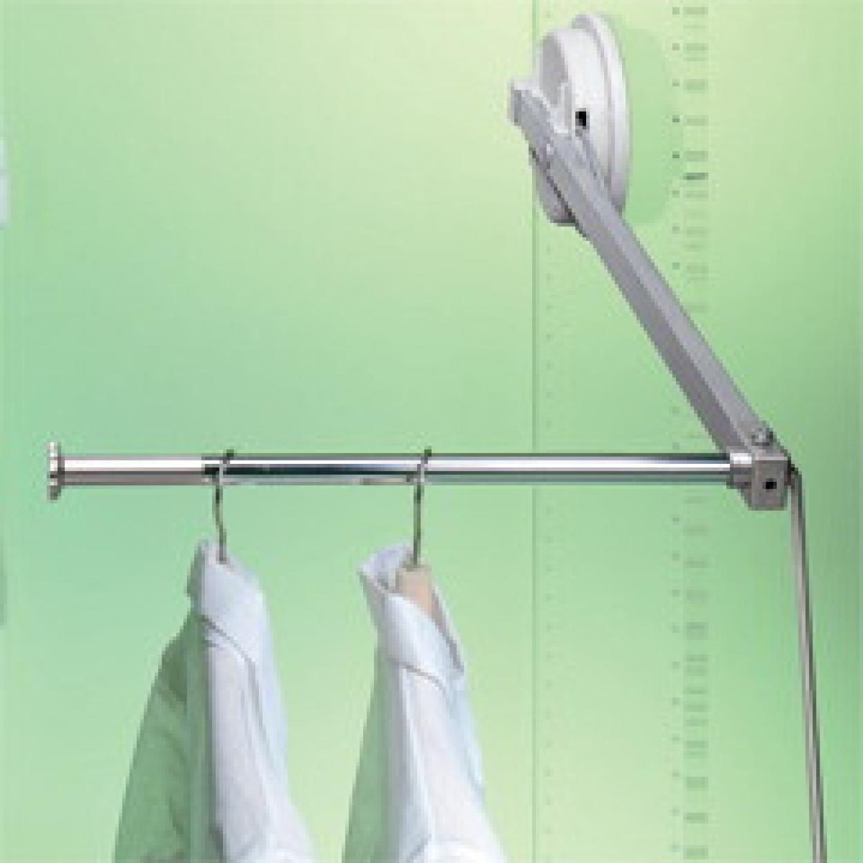 пантограф мебельныйЛифт 101 для одежды в шкаф правый цвет серый