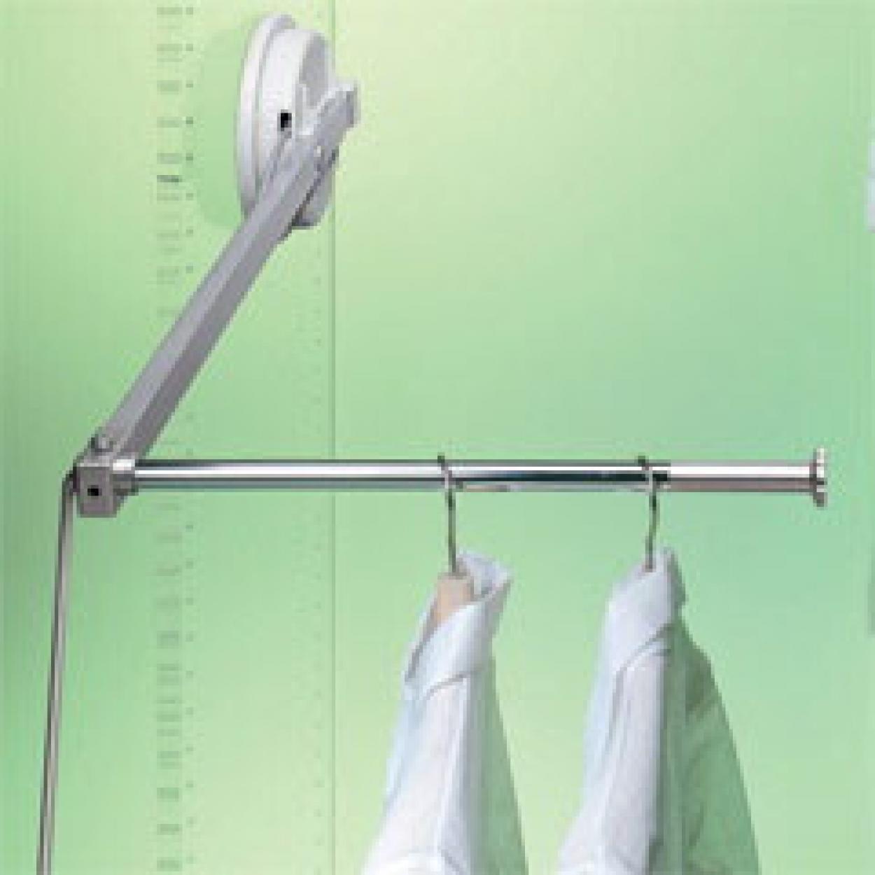 пантограф мебельный Лифт 102 для одежды в шкаф левый цвет серый