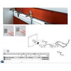 Выключатель сенсорный Touch LED System 550W 230V ON-OFF + presa EU цвет серый металлик