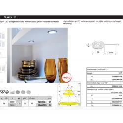 Светильник светодиодный Sunny SQ HE 12V 1,25W 5000*K (холодный свет) цвет серый металлик