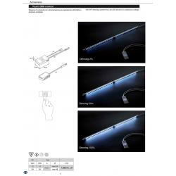 Выключатель сенсорный Touch DIM control max 48W 12/24V цвет алюминий