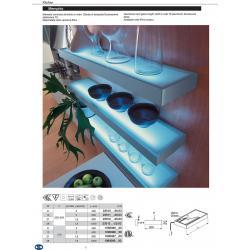 Светильник комнатный люминисцентный Memphis ширина 600мм 13W 230V цвет алюминий