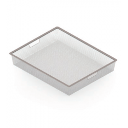 Корзина мелкосетчатая Аристо. Размер ш450мм х г427мм х в85мм. Цвет Металлик