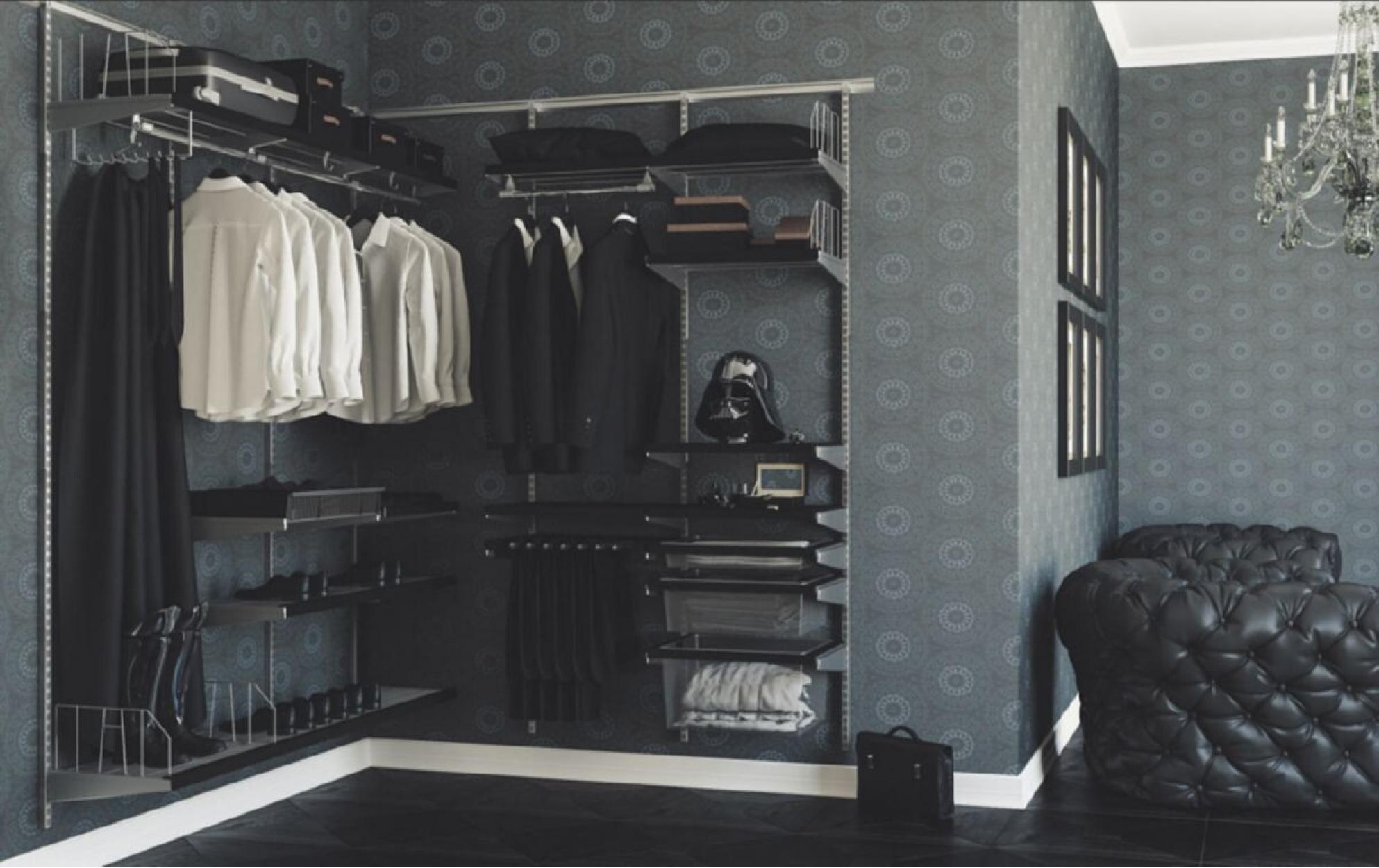 Мужская угловая гардеробная система АРИСТО