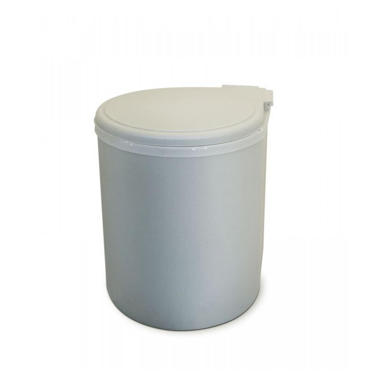 Ведро Clean Bin, 13л, пластик, цвет: серый